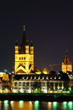 Santa Martin Church aside of the Rhine River in Cologne Germany Stock Photos