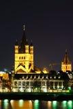 Santa Martin Church-Nebenwirkung des Rheins in Köln Deutschland Stockfotos