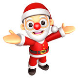 The Santa mascot has been welcomed with both hands. 3D Christmas Royalty Free Stock Photo