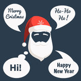 Santa mask and speech bubbles Royalty Free Stock Image