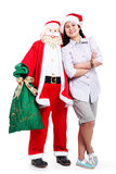Santa And Me Royalty Free Stock Photos