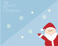 Santa in merry Christmas card Royalty Free Stock Images