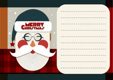 Santa Merry Christmas greeting card Royalty Free Stock Images