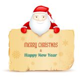 Santa with Merry Christmas message Stock Photos