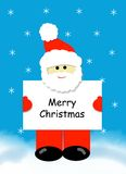 Santa with Merry Christmas Sign royalty free stock images