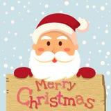 Santa Merry Xmas Board Arkivbilder