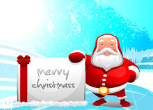Santa with message Stock Image