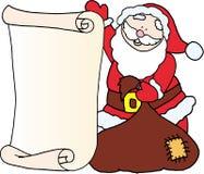 Santa - Message Letter For Santa Claus Stock Photo