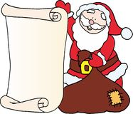 Santa - message letter for Santa Claus Stock Photo
