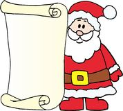 Santa - message letter for Santa Claus Royalty Free Stock Images
