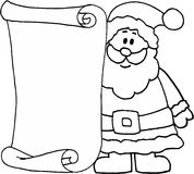 Santa - message letter for Santa Claus. Christmas theme. image stock illustration