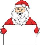 Santa mienia pokazu sztandar royalty ilustracja