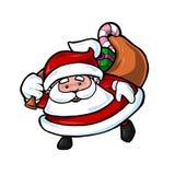 Santa mignonne Illustration Libre de Droits