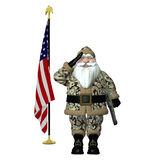 Santa militaire illustration libre de droits