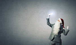 Santa with mobile phone Royalty Free Stock Photos