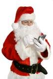 Santa moderne avec la liste Photos stock