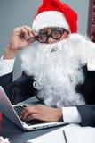 Santa moderne futée Photo libre de droits