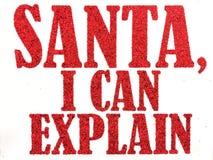 Santa mogę wyjaśniać Fotografia Royalty Free