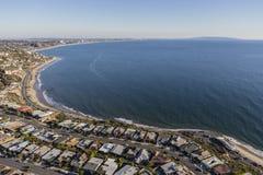 Santa Moica Bay Ocean View-Häuser Stockbild