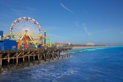 Santa Moica molo Ferris Toczy wewnątrz Kalifornia obraz royalty free