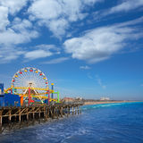 Santa Moica pier Ferris Wheel in California royalty free stock photo