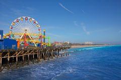Santa Moica pier Ferris Wheel in California Royalty Free Stock Image