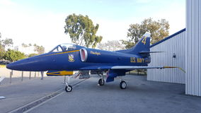 Santa Monica. Airplane museum US Navy aiplane Stock Photography