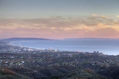 Santa Monica Bay in California del sud Fotografia Stock Libera da Diritti