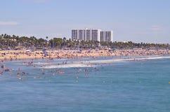 Santa Monica Beach Royaltyfria Foton