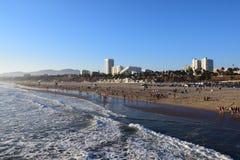 Santa Monica Beach Stock Afbeelding
