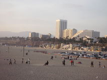 Santa Monica Beach Stock Afbeelding