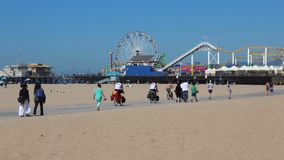 Santa Monica Beach banque de vidéos