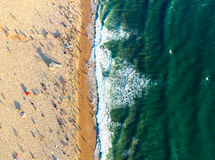 Santa Monica beach from above Stock Images