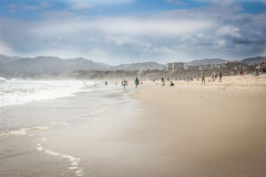 Santa Monica beach. Awesome vacation in California on a Santa Monica beach Royalty Free Stock Images