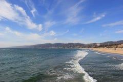Santa Monica Beach. Beautiful Scenery of Santa Monica Beach and Pacific Ocean at Santa Monica, California Stock Photos