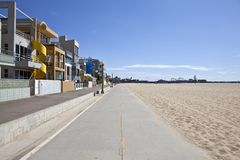 Santa Monica Beach Bike Path Royalty Free Stock Images