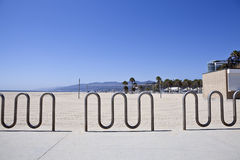 Santa Monica Beach Bike Racks Royalty Free Stock Photography