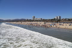 Santa Monica Beach Stock Photos