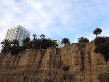 Santa Monica beach cliffs. Steep cliffs at Santa Monica beach Stock Photos