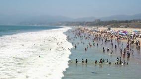 Santa Monica Beach - décalage/bourdonnement d'inclinaison banque de vidéos