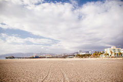 Santa Monica Beach Front Royalty Free Stock Photography
