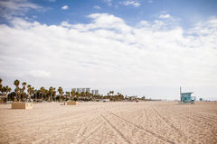 Santa Monica Beach Front Royalty Free Stock Photo
