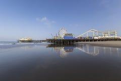 Santa Monica Beach i sydliga Kalifornien Royaltyfri Bild