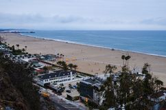 Santa Monica Beach. Landscape of Santa Monica Beach Stock Photography