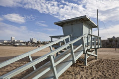 Santa Monica Beach Life Guard Tower Royalty Free Stock Images