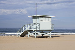 Santa Monica Beach Lifeguard Tower Stock Images