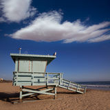 Santa Monica beach lifeguard tower in California Stock Photos