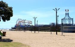 Santa Monica Beach in Los Angeles California stock photo