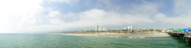 Santa Monica beach in Los Angeles. USA. Panorama Stock Photos