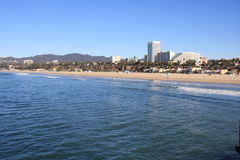Santa Monica Beach and the Pacific Ocean Stock Photography